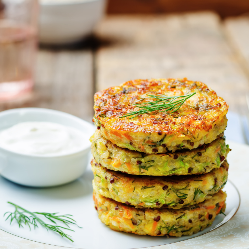Chickpea Quinoa Fritters (plant-based)